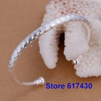 B157 925 sterling silver Bracelet Bangle Cuff fashion Jewelry bracelet for women B157 /amua jeba