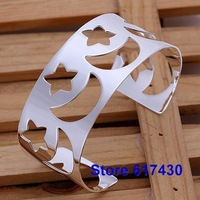 B161 925 sterling silver Bracelet Bangle Cuff fashion Jewelry bracelet for women Moon star /amya jefa