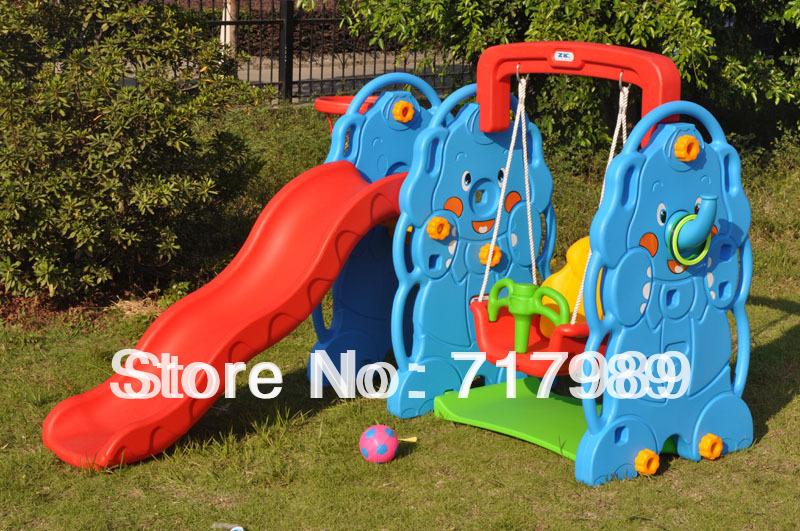 kids indoor amusement slide and swing,amusement park for children(China (Mainland))