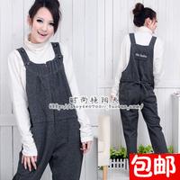 Maternity bib pants spaghetti strap pants spring and autumn maternity clothing 2031 zipper adjust maternity pants