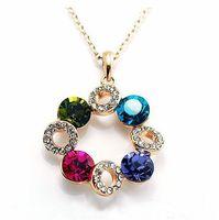 Free Airmail Shipping Fashion Short Design Shining Multicolor Full Rhinestone Necklace N626