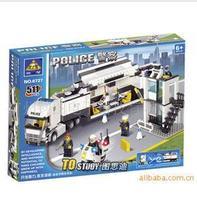 children gift city cop assembly Building Block Sets.policeman Enlighten DIY  Bricks toy kids yz1070