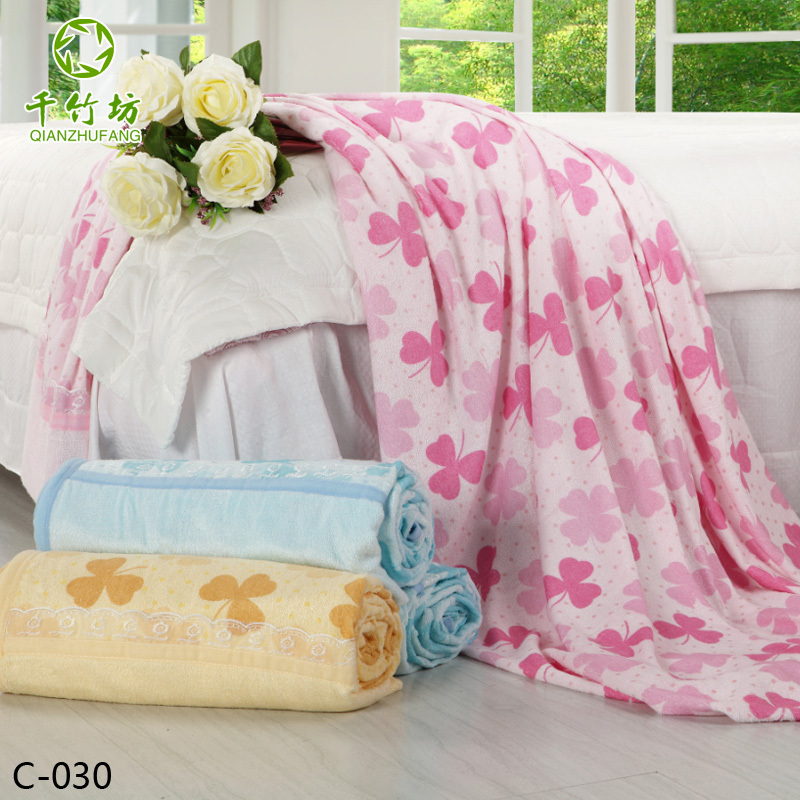 Free Shipping Good Quality 100% Bamboo Fibre Thickening Blanket /Towel(China (Mainland))