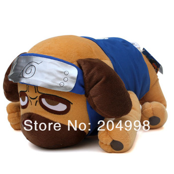 "Free shipping Anime Naruto 13.8"" Kakashi Pakkun Dog  Cosplay Soft  Plush Stuffed Toy"