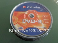 Free shipping Blank DVD-R 16X  in 10pcs cake box