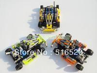 Decool Crash Kart Karting Car NO.3338 Building Block Sets 143pcs Three colors Educational Jigsaw DIY Construction Bricks toys