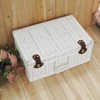 Rustic storage box storage box suitcase cosmetic box small picnic basket