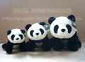 Free shipping Birthday gift  high quality pandaway big panda bear plush toy doll small size 10'