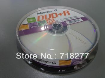 Free shipping Blank DVD+R 16X  in 10pcs cake box