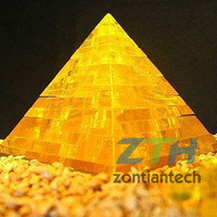 Free Shipping/Drop Shipping  Crystal  Puzzle 3D Decoration Pyramid Puzzle Three Colors Available Hot sell