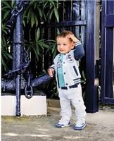 free shipping size80-120 5sets/lot 3pcs/set(boy coat+tshirt+pant) kids sport clothing set children sport suit kid clothes