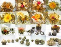 [GRANDNESS] 20pcs Different kinds Chinese Blooming Flower Tea 100% Handmade,Artistic Blossom Flower Tea,Vacuum Pack