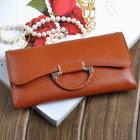 Fashion women's wallet in genuine leather 2014 wallet female WHOLESALES FREE SHIPMENT