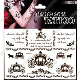 38 waterproof pumpkin car letter tattoo stickers k41