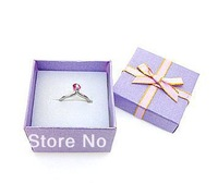 Free shipping, Purple phnom penh ring box 5 * 5 cm .