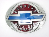 OVAL CHEVY BELT BUCKLE