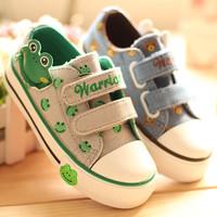 2013 spring WARRIOR children shoes canvas shoes skateboarding shoes sport shoes velcro