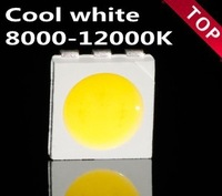 wholesale 100pcs x   Super bright cool  white light  5050 SMD  LED lamp bead SMT light-emitting diod 8000-12000k   Free shipping