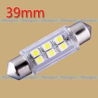4pcs 39mm 6 SMD Pure White Dome Festoon Interior 6 LED Car Light Lamp Bulb V4 12V Interior Lights C5W Led