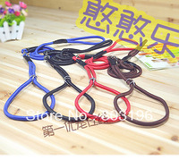 Wholesale High Quality Pet Dog Easy to Pull Leashes Dog Collar and Leash Leather Buckle+Metal Ring Free Shipping 100Pcs/Lot
