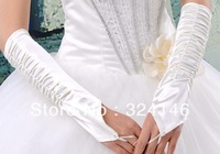 Free shipping  New design Bridal gloves white finger gloves mesh/ tulle lace gloves