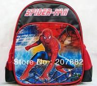 2013 Fashion Spider Man School bag Rucksack Children School Backpack Cartoon Schoolbag A2206 Wholesale+Free Shipping