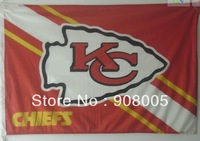 Wholesal Free shipping: High quality customize NFL team flag hanging polyester flags,110*70cm ,20pcs/lot