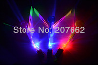 free shipping 50pcs/lot blue light LED Amazing arrow helicopter Flying umbrella  arrow helicopter light light up flying arrow