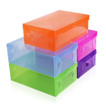 transparent shoe box multicolour plastic storage box for lady shoes clear women shoe box 25pcs/lot FREE SHIPPING