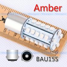 4pcs 1156 BAU15S 30 SMD Amber / Yellow Tail Turn Signal 30 py21w led Car Light Lamp Bulb V4 12V External Lights(China (Mainland))