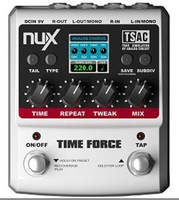 Free shipping NUX TIME FORCE 11 Delay effects  colourful LCD display 2input ch stereo signal processing guitar effects Stompbox