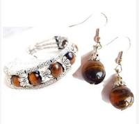 Beautiful Jewelry Tibet Silver & Jade Earrings