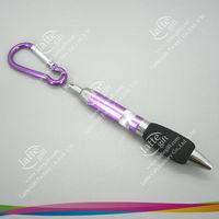 Free shipping for best seller anodized aluminum Carabiner Ball Pen