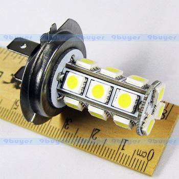 4pcs H7 18 SMD 5050 Pure White Fog Tail Signal 18 LED Car Light Lamp Bulb V4 12V