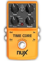 Free shipping NUX TIME CORE 7 delay effects 32-bit DSP 24-bit 44.1 kHz  convert stereo signal processing guitar effects Stompbox