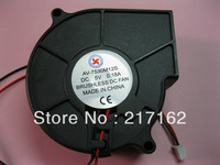 2 Pcs Per Lot Brushless DC Cooling Blower Fan 7530s 5V 2 Wires Black 75x30mm Brand New High Quality HOT Sale