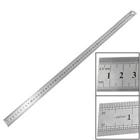 2 Pcs 60cm 24 Inch Stainless Metal Straight Ruler Measuring Tool free shipping