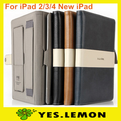 New Arrival Kalaideng Luxury Business Leather Case Smart Cover For ipad 2 ipad 4 ipad 3 the new ipad Free Shipping(China (Mainland))
