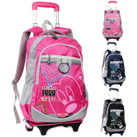 Hotsale Natural fish primary school student trolley school bag male Women the disassemblability 4