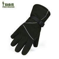 FREE SHIPPING Outdoor skiing windproof fleece gloves windproof thermal gloves ride fleece gloves