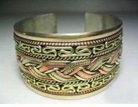 Tibet three-color copper cuff men's Bracelet