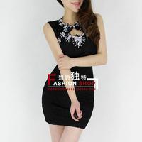2013 fashion ol elegant cutout slim hip one-piece dress 70163 sexy club wear