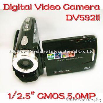 Wholesale 3.0 inch TFT Digital Video Camera DV Camcorder Max 16MP 16X Digital Zoom dual SD card Slots DV-592II