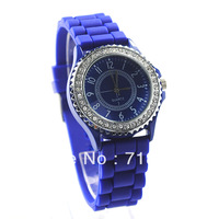 Rubber Silicone Gel Quartz Jelly Candy Wrist Watch