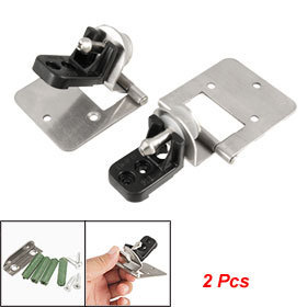 Wall to 4.8-6mm Thick Glass Adjustable Alloy Hinge 2 Pcs Free shipping