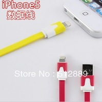 Hot Sell  Flat Charging Cord USB Data Sync Cable For  iPhone 5