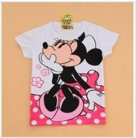 Spring cartoon letter slim o-neck white basic shirt cotton long-sleeve T-shirt female t shirt