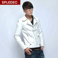 Free shipping classic new korea men s 2014 motorcycle jacket men spring apparel coats fur collar