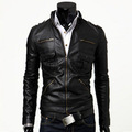 2014 motorcycle punk slim jacket spring apparel coats pilot the new arrival clothing fashion leather england
