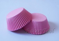 50pcs/lot plain pink color cupcake liners paper baking cups muffin cake cases with FDA approved free shipping